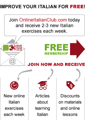 Learn Italian at OnlineItalianClub.com - free Italian exercises each week, plus easy Italian readers & online Italian lessons.
