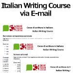 Italian writing course via e-mail