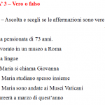 Free Italian listening comprehension exercise level A2