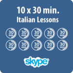 10 pack of Online Italian lessons