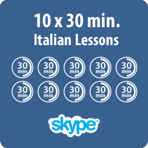 10 pack of Online Italian lessons